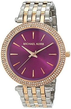 Michael Kors MK3353 Ladies Darci Two Tone Watch, Women's, stainless steel