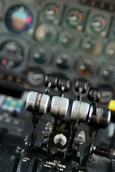 DC-8 Engine Throttles by Kris Klop, via Flickr