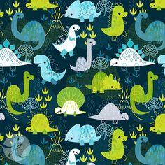 Cute Dino Print on Behance - Kat Uno