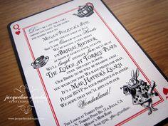 Mad Hatter Bridal Shower Invitation  Alice in Wonderland