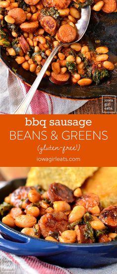BBQ Sausage, Beans a