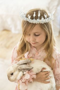 Bunnies and small children shouldn't be together unsupervised, but this is very cute.  ^.^