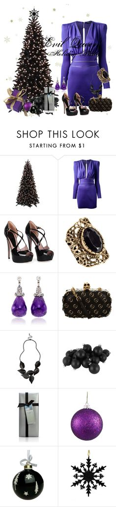 """""""Evil Queen Holiday Party"""" by amarie104 ❤ liked on Polyvore featuring Balmain, Gucci, H&M, Simon Teakle, Alexander McQueen, River Island, Vie Active and Dolce&Gabbana"""