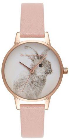 Olivia burton **woodland bunny dusty pink watch