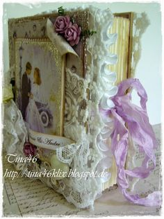 Wedding Book Card by LLC DT Member Tina Klix. Papers from Pion Design - Alma's Sewing Room.
