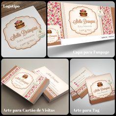 Lindo Logotipo e Identidade Visual para Confeitaria. Veja outras artes para Identidade Visual à pronta entrega em nosso site: http://www.ateliefloradg.com.br/