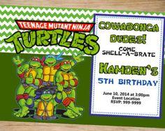 Teenage mutant ninja turtles birthday party invitations dolanpedia teenage mutant ninja turtles invitation ninja turtle birthday tmnt birthday invitation filmwisefo Image collections