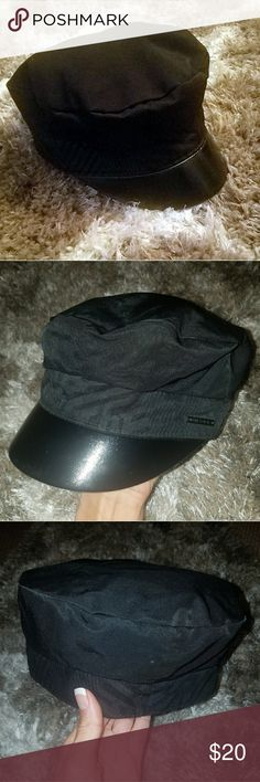 "Diesel ""Military Style"" Hat Fun trendy authentic DIESEL hat, polyester and nylon material with faux leather brim. Has slight elastic giving it a bit of stretch. Can be casual or sexy 😉. Says size 11?! I have a small head so I'd call it a women's small. Worn literally once or twice, excellent condition Diesel Accessories Hats"