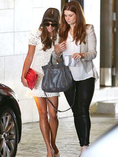 Glee's Lea Michele makes her first public appearance since the death of boyfriend Cory Monteith who also played Finn Hudson her love interest on the show. Cory's body was found on July 13th in a hotel room in Vancouver from an accidental overdose of heroin and alcohol. Lea Michele has been in seclusion since that time. She made her first public appearance to attend one of her best friend's baby shower.