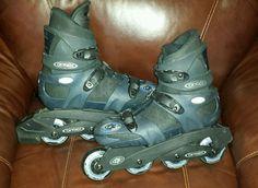 Men's Oxygen Oz3 Inline Rollerblade Skates Size 26.5 or 8.5 Black GUC