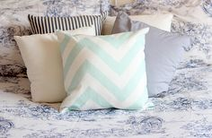 Simple Features: Cushions from Tesco and Matalan. Love the chevron one! :)