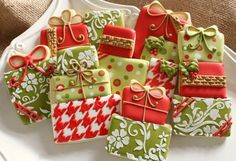 Decorating ideas for xmas cookies for gifts