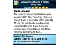 The response time room Atlas Chula Vista was incredible. They picked my calls even though...