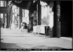The north side of Queen looking towards Dufferin in the fall of 1931. That's the Gladstone Hotel's awning
