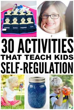 Learn how to teach children self-control with this collection of self-regulation strategies and activities for kids! Whether your child struggles with impulse control as a result of ADHD, autism, or another developmental challenge or delay, or just needs some coping skills and tools to help calm down in the classroom, we have 7+ ideas to help teach your kids about self-regulation, as well as 30 self-control activities to develop and encourage appropriate self-regulatory behavior.