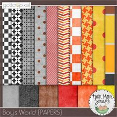 $1 GOTTA GRAB IT from TwinMomScraps at Gotta Pixel! Boy's World PAPERS; http://www.gottapixel.net/store/product.php?productid=10002060=0=1. 08/06/2013