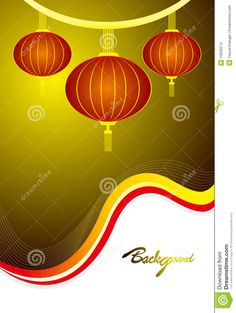 Chinese Lantern Template | Chinese lanterns template design vector.