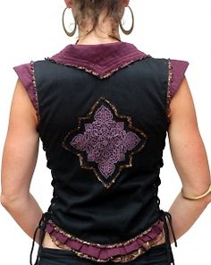 Lace Vest (back) - sleeveless.  This style would make some awesome garb.