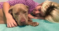 """""""It is actually very impressive how Twinkie runs to Naomi, and starts laying on her when she sees her laying down and hears her crying. Shelter Dogs, Animal Shelter, Rescue Dogs, Thing 1, 1 Year Olds, Service Dogs, Dog Behavior, Best Mom, Pit Bull"""