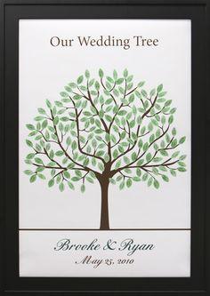 Thumbprint Wedding Guestbook Tree - 24″ x 36″ Tree # 9