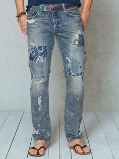 1f0525f0524fe1 Slim-Fit Repaired Jean - Polo Ralph Lauren Slim - RalphLauren.com  MensJeans