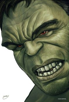 "Hulk Portrait    Bruce Banner    by Sam Gilbey    676px x 1000px    #fanart    $40, 12"" x 18"""