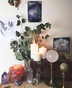 altar witch wiccan decor room witchcraft wicca aesthetic witchy pagan craft meditation modern info boho rooms decorating trendhmdcr instagram tips