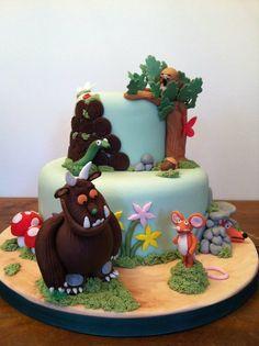 Gruffalo two-tiered cake