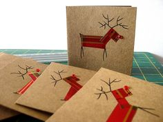 handsewn christmas cards - Google Search