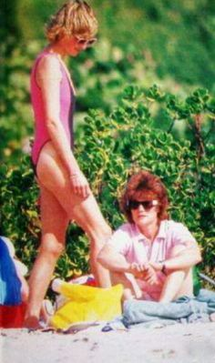 Diana with Sarah. Poor Diana her unhappiness was already taking its toll on her, both emotionally and physically.