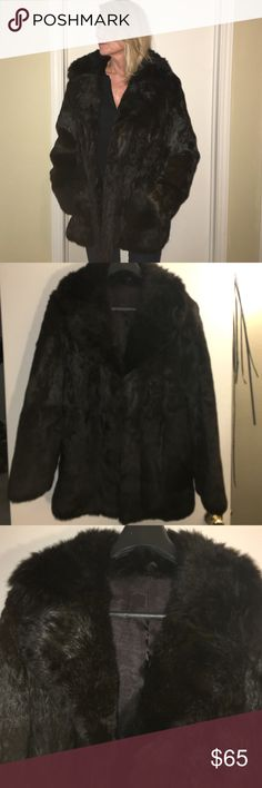 Fur Jacket Dark Brown fur jacket. Fur is unknown, not mink or beaver. It is very soft not old or stiff feeling. Size is not stated either but I usually wear s-m, this is a little larger. Length is 32, sleeve is 26 inches. For the price it would be fun to have possibly redesign it, make it shorter. Very warm! Smoke free environment. Jackets & Coats