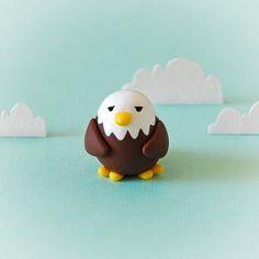 joojoo: polymer clay eagle