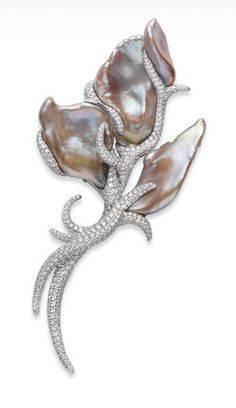 Mikimoto Baroque Freshwater Pearl Brooch
