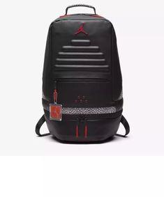 effc501eee21 Nike Air Jordan Retro 3 III Black Cement Grey Backpack Gray Red 88 9A0018  KR5