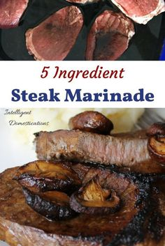 Marinade is a great way to enhance the flavor of meat. Our 5 Ingredient Steak Marinade recipe will bring out the flavor in your steaks this grilling season! Steak Marinade Recipes, Grilling Recipes, Pork Recipes, Crockpot Recipes, Shrimp Recipes, Lasagna Recipes, Cabbage Recipes, Pudding Recipes, Turkey Recipes