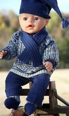 Baby born dukke | strikkeoppskrift | dukkeklær
