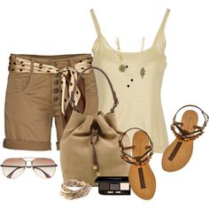 To save costs with fashion accessories, use the same accessories for a spring/summer and similar fall/winter outfit.