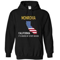 MONROVIA - Its Where My Story Begins - #tee trinken #cute hoodie. CHECK PRICE => https://www.sunfrog.com/States/MONROVIA--Its-Where-My-Story-Begins-kudkn-Black-14738854-Hoodie.html?68278