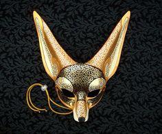 Egyptian jackal mask by Merimask