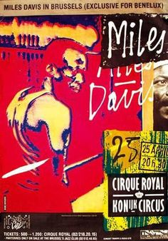 Miles Davis 1983 Brussels Concert Poster