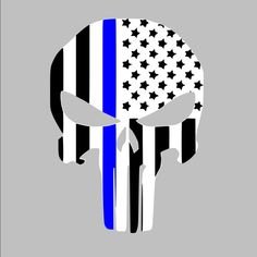 Thin Blue line American Punisher Law by SouthernPrideDecals