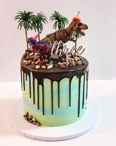 Most Popular Dinosaur Birthday Party Cake One Ideas Dinosaur Birthday Cakes, 3rd Birthday, Dinosaur Party, Dinosaur Cupcakes, Birthday Cakes For Boys, Dinosaur Cakes For Boys, 4 Year Old Boy Birthday, Birthday Ideas, Dinosaur Dinosaur
