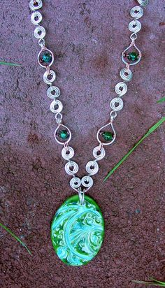 Tutorial: Wirework Necklace, featuring the Greenblue Burst Pendant! - JEWELRY AND TRINKETS