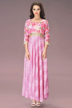 """I don't do Fashion. I am #FASHION!"" - Coco ChanelOur Price: INR 3,110Shop Now: http://www.admyrin.com/catalogs/bond-street/pink-georgette-leheriya-print-long-tunic.htmlView Entire Collection: http://www.admyrin.com/catalogs/bond-street.html#Dress #WesternWear #Stylish #Leheriya #Print #COD"