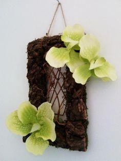 tableaux floraux sur cadre en bois peint (fleurs éternelles et