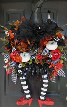 Wicked Witch Door Wreath