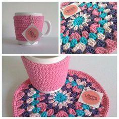 Taza Cerámica Abrigadita Con Funda Crochet Lisa Y Posa - $ 220,00 en Mercado Libre
