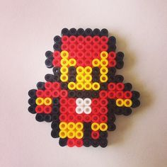 Iron Man keyring hama beads by beadgeekcreations