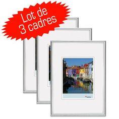Bilderrahmen von Walther Kunststoffrahmen Galeria 21x29,7 (A4) silber - Normalglas 3er Pack - http://kameras-kaufen.de/walther/21x29-7-a4-walther-kd030h-galeria-im-format-20-x-30