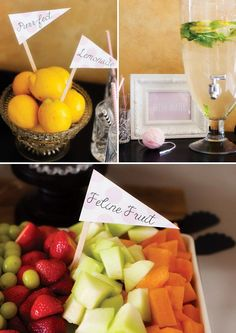 fresh fruit birthday party drink and food ideas